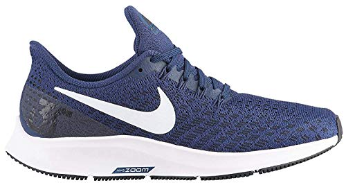 Nike Women's Air Zoom Pegasus 35 Running Shoes (7 M US, Midnight Navy/White/Black)