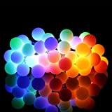 Meedasy Waterproof Outdoor Ball String Lights, 23ft/7m 50 Battery Powered LED Bulbs with 8 Modes, Easy Remote Control, Perfect for Garden, Tent, Patio, Porch, Christmas Tree, Holiday Decoration