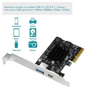 FebSmart-1X-USB-A-and-1X-USB-C-10Gbps-Ports-PCIE-USB-31-Gen2-Card-for-Windows-Server7881103264MAC-OS-109x1010x1012x1013x1014x1015x-Build-in-Self-Powered-TechnologyFS-AC-Pro