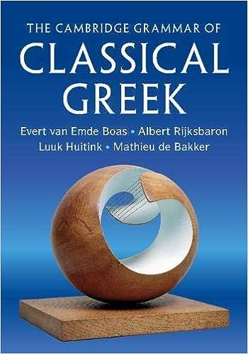 """Cambridge Grammar of Classical Greek"" cover"