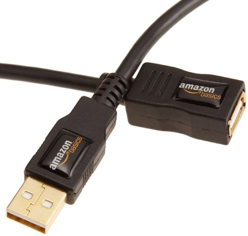 AmazonBasics USB 2.0 Extension Cable - A-Male to A-Female Adapter Cord - 9.8 Feet (3 Meters)