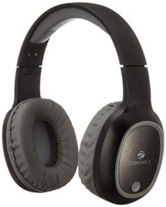 Zebronics Zeb-Thunder Wireless BT Headphone with Built-in FM,AUX Connectivity and Micro SD Card Support(Black)