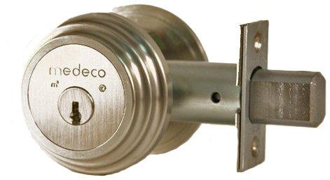 Medeco 11TR50319 Maxum Residential Single Cylinder Deadbolt, Satin Nickel, High Security Restricted M3 Keyway, Keyed Different