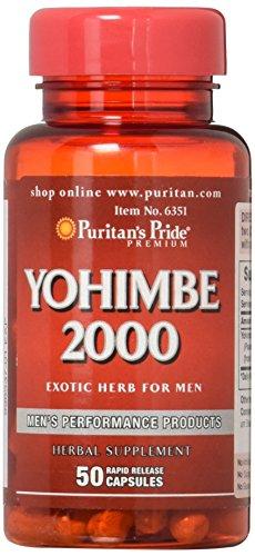 Puritans Pride Yohimbe 2000 Mg, 50 Count