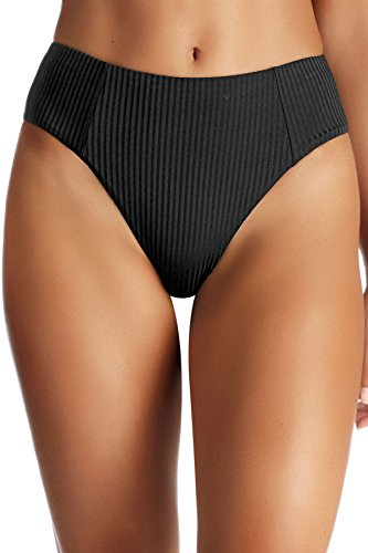 "SIENNA HIGHWAIST BOTTOM: These hi-waist bottoms should be a go-to in every girl's swimsuit rotation. They have an ultra-flattering fit and medium coverage in the back, plus you can wear them with every top in your bikini drawer. SIZING: XS-2-4: waist 24-26"", hips 35-37"" / S-6: waist 26-28"", hips 37-39"" / M-8: waist 28-29"", hips 39-41"" / L-10: waist 29-30"", hips 41-43"" / XL-12: waist 30-31.5"", hips 43-45"" MIX & MATCH: Vitamin A swimwear is created to provide seamless mixing between collections, giving you the options you need to show off your signature style."