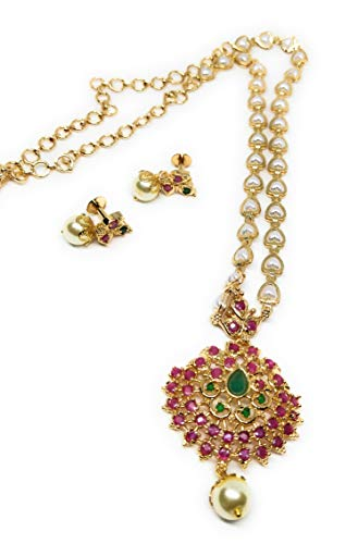 Adc-Fashions-Brass-Gold-Plated-and-Pearl-Chain-With-Pendant-for-Women-Girls-Golden