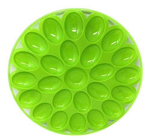 Northeast-Home-Goods-Round-Easter-Egg-Deviled-Egg-Serving-Plate-holds-24-Eggs-Green