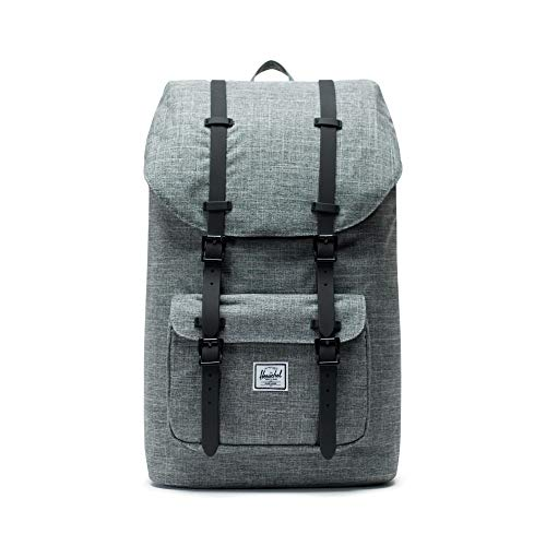 Herschel Little America Backpack-Raven Crosshatch/Black Rubber