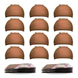20 Pack Nylon Wig Caps, MORGLES Stretchy Nylon Wig Caps for Kids Girl Women and Men -Light brown