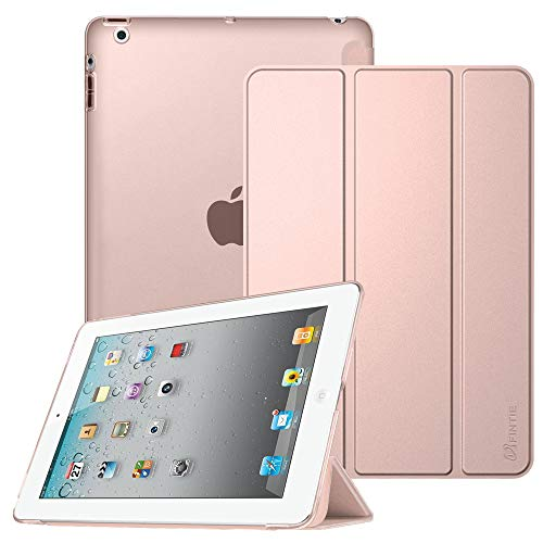 Fintie iPad 2/3 / 4 Case - Lightweight Smart Slim Shell Translucent Frosted Back Cover Supports Auto Wake/Sleep for iPad 4th Generation with Retina Display, iPad 3 & iPad 2, Rose Gold