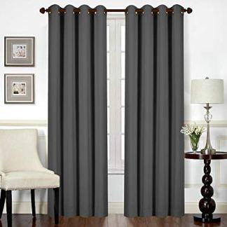 Utopia Bedding – Tende oscuranti e termoisolanti per finestre/Pannelli/Tende (2X 140 x 245 cm, Grigio)