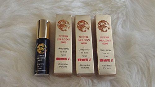 Super Dragon 6000 12ml - Male Enhancement - Climax Control Spray  - Last Longer & Stop Premature Ejaculation - Safe with Vitamin E (3)Plus Love Potion Pen