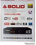 SOLID HDS2-2100Pro Full HD DVB-S2 Set-Top Box with Mobile Wireless Display and SATIP (with Free HDMI Cable)