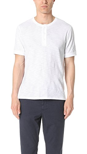 41Amdl0LlrL Extended-length T-shirt featuring three-button Henley crew neckline Short sleeves with banded cuffs
