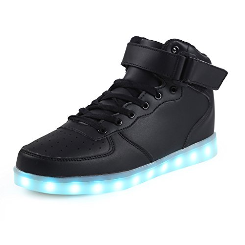 SAGUARO Mens Womens High Top Led Light Up Shoes 8 Colors Flashing Rechargeable Sneakers Ankle Boots