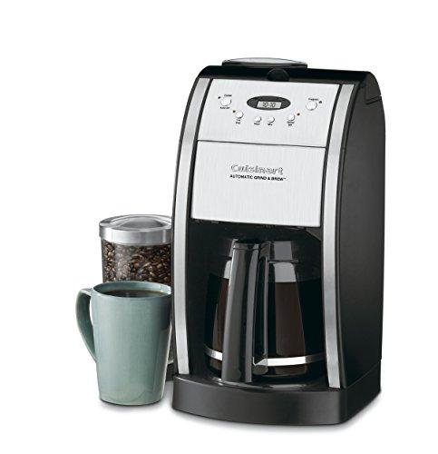 Cuisinart DGB-550BK Grind & Brew Automatic Coffeemaker, 12 Cup Silver/Black
