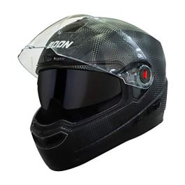 Steelbird SBA-1 7Wings Boon Double Visor ABS Material Shell Full Face Helmet with Inner Smoke Sun Shield and Outer Clear…