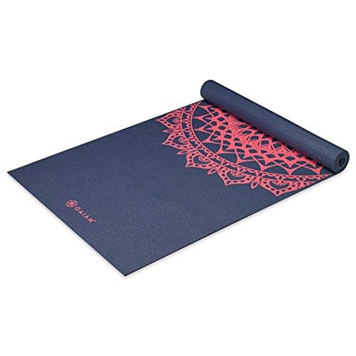 Gaiam Print Yoga Mat, Pink Marrakesh, 3/4mm