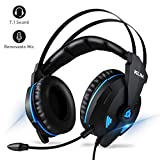 KLIM Impact Gaming Headset - PS4 and PC - USB 7.1 Surround Sound - Noise Cancelling Headphones - Headphone with Microphone and Volume Control - HD Audio, Strong Bass, Mic - Computer Gamer Audifonos