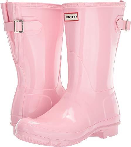 Hunter Women's Original Back Adjustable Short Gloss Rain Boots Candy Floss 11 M US