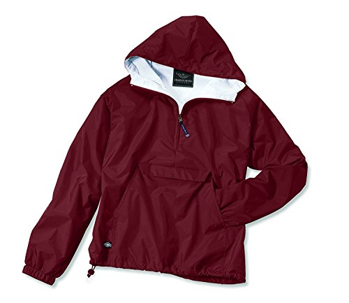 Charles River Apparel Women's Front Pocket Classic Pullover - Cardinal, Medium