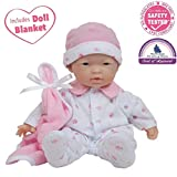 JC Toys, La Baby 11-inch Asian Washable Soft Body Play Doll For Children 12 Months and older, Designed by Berenguer