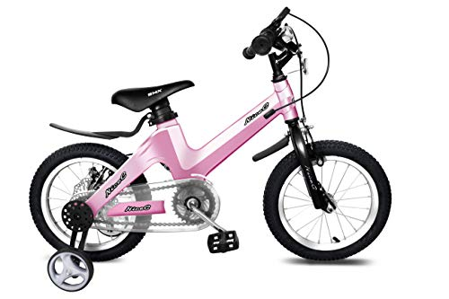 Nice C BMX Kids Bike with Dual Disc Brake for Boy and Girl 12-14-16-18 inch Training Wheels (14' Pink)