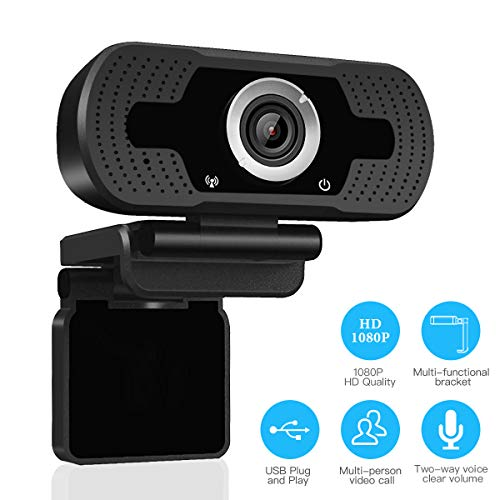 LARMTEK 1080P Full HD Webcam,Computer Laptop Camera for Conference and Video Call, Pro Stream Webcam with Plug and Play Video Calling