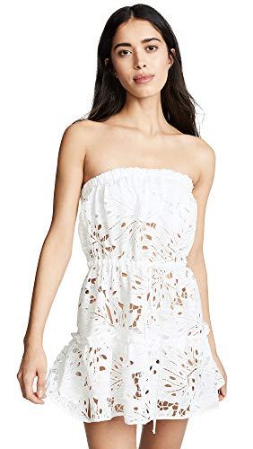 Beach cover-up Strapless cover-up white cover-up