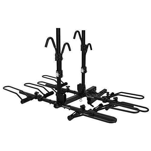 Hollywood Racks - 4-Bike Hitch Mounted Rack, HR1400 Sport Rider SE4, Platform Style Bike Rack with Easy Cargo Access - Fits 2-Inch Receiver