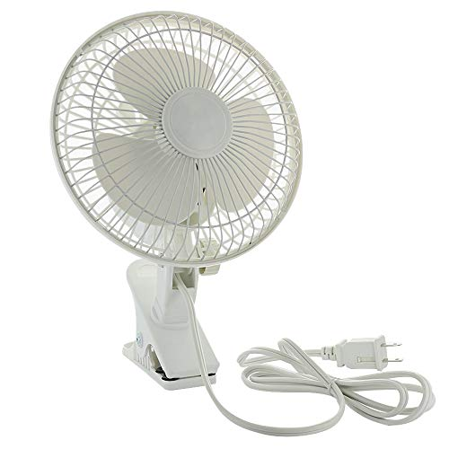 RamPro Personal Clip on Fan Cooling Portable Mini Desk Fan with Two Quiet Speeds Perfect for Home, Baby Strollers, Office Table Tops