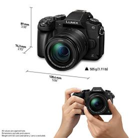 PANASONIC-Lumix-G85-4K-Digital-Camera-12-60mm-Power-OIS-Lens-16-Megapixel-Mirrorless-Camera-5-Axis-In-Body-Dual-Image-Stabilization-3-Inch-Tilt-and-Touch-LCD-DMC-G85MK-Black