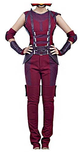 Mtxc Women's Guardians of the Galaxy Cosplay Costume Nebula Full Set Size XX-large Red