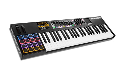 M-Audio Code 49 Black   49-Key USB MIDI Keyboard Controller with X/Y Touch Pad (16 Drum Pads / 9 Faders / 8 Encoders), VIP Software Download Included