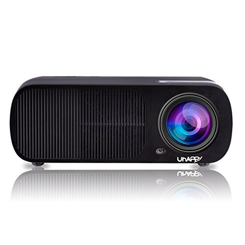 Uhappy U20 Multimedia Mini Portable HD LED Projector Micro Home Theater Projector - Black