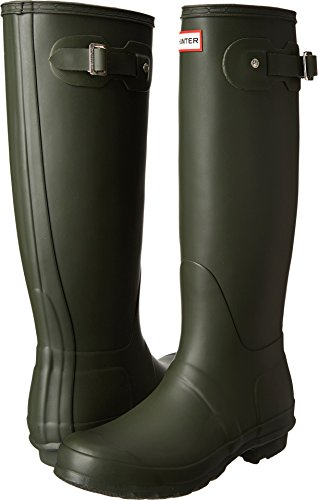 Hunter Women's Original Tall Dark Olive Rain Boots - 9 B(M) US