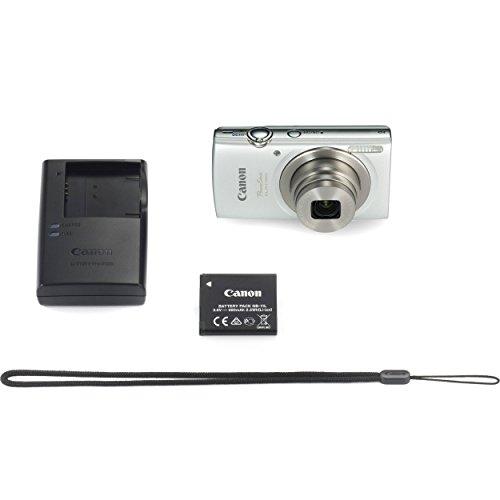Canon-PowerShot-ELPH-180-20MP-8X-Zoom-Digital-Camera-Silver-16GB-Card-Reader-Case-Accessory-Bundle