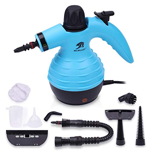 MLMLANT Handheld Pressurized Steam Cleaner 9-Piece Accessory Set - Multi-Purpose Multi-Surface All Natural, Chemical-Free Steam Cleaning Home, Auto, Patio, More