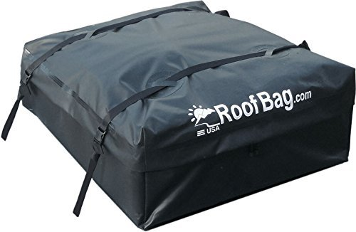 RoofBag Waterproof Car Rooftop Storage Bag with Heavy Duty Straps (Black)