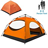 LETHMIK Backpacking Tent, Instant Pop Up Tent, 2-3 Person, Waterproof Lightweight Double Layer Camping Tent for Outdoor Hunting, Hiking, Climbing, Travel, Orange