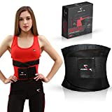 Formed by Me Waist Trimmer | Sweat Belt Trainer for Burning Belly Fat and Weight Loss | Premium Ab Belt for Both Women and Men (Black, Large)