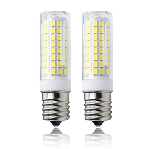 All-New LED E17 Bulb, 102×2835SMD Dimmable E17 Light Bulb, 7.5W White 120v 75w Equivalent, Microwave Appliance Compatible Bulb (Pack of 2)