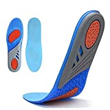 Comfort Gel Shoe Insoles, Orthotic Insoles for Men & Women, Full Length Plantar Fasciitis Inserts with Arch Support Relieve Flat Feet, High Arch, Foot Pain,Supination (Men)