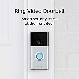 Ring Video Doorbell (1st Gen) – HD video, motion activated alerts, easy installation – Satin Nickel title