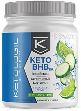 KetoLogic Keto BHB Exogenous Ketones Powder Supplement: Cucumber Lime (60 Servings) - Boosts Ketosis, Increases Energy & Focus, Suppresses Appetite – Supports Keto Diet & Weight Management 3