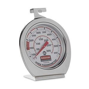 Rubbermaid Commercial Products Stainless Steel Instant Read Oven/Grill/Smoker Monitoring Thermometer 41Blr86YPiL