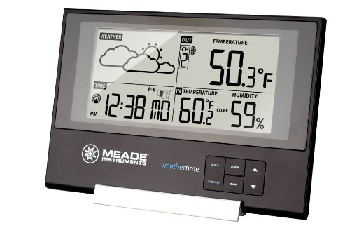 Meade Instruments TE346W Slim Line Personal Weather Station with Atomic Clock