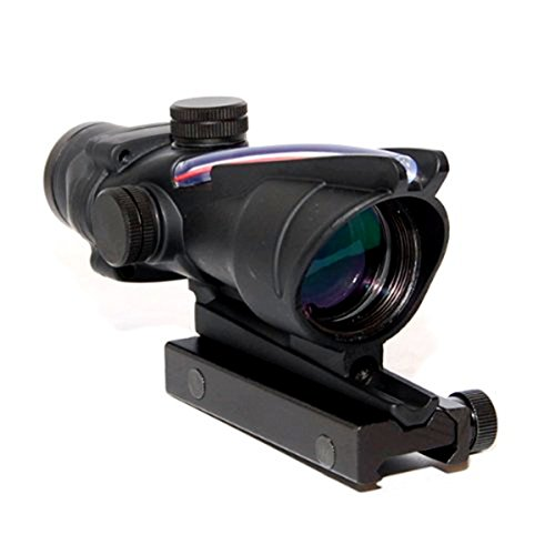 Acog 4x32 Red Fiber Scope Dual Illuminated Dot .223 Ballistic Reticle Rifle Scope