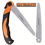 FUJIWARA Heavy Duty Folding Saw, 8 Inch Pruning Hand Saw for Wood Camping, Wet & Dry Wood Garden Saw with Aggressive SK4 Steel 7 TPI Teeth