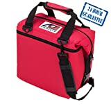 AO Coolers Original Soft Cooler with High-Density Insulation, Red, 12-Can